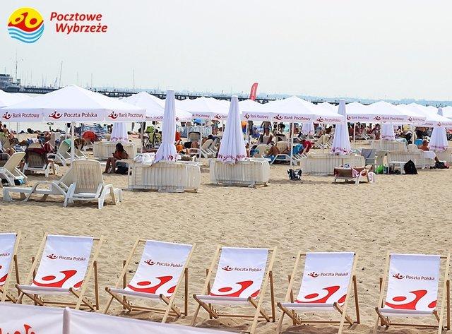 Pocztowe Wybrzeże w Sopocie: plażowe przedszkole, darmowe WiFi, leżaki za darmo z kartą Banku Pocztowego @ Poczta Polska