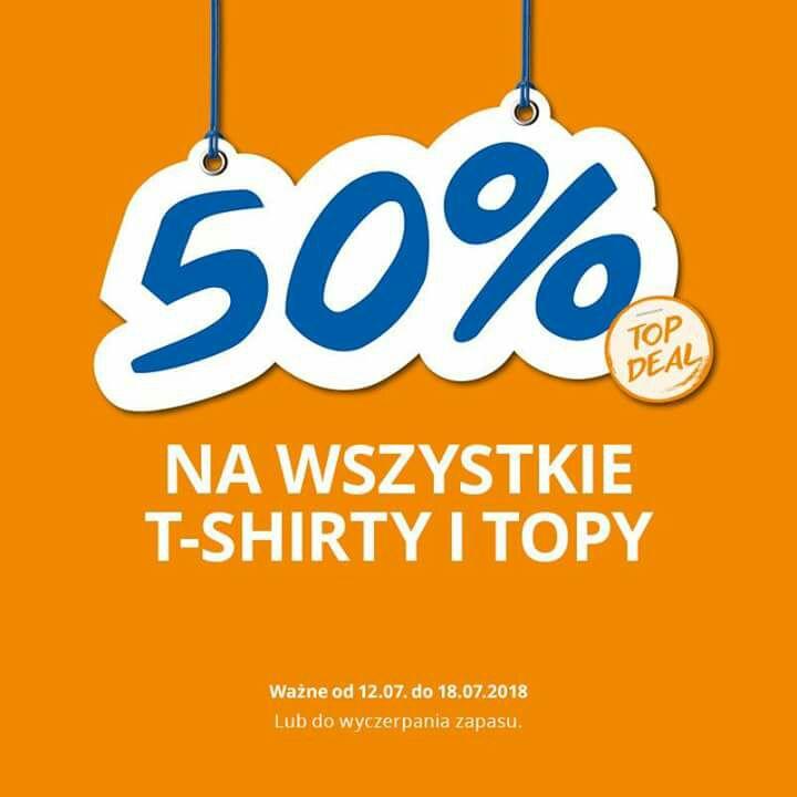 Dodatkowe -50% topy i tshirty z wyprzedaży @ Takko