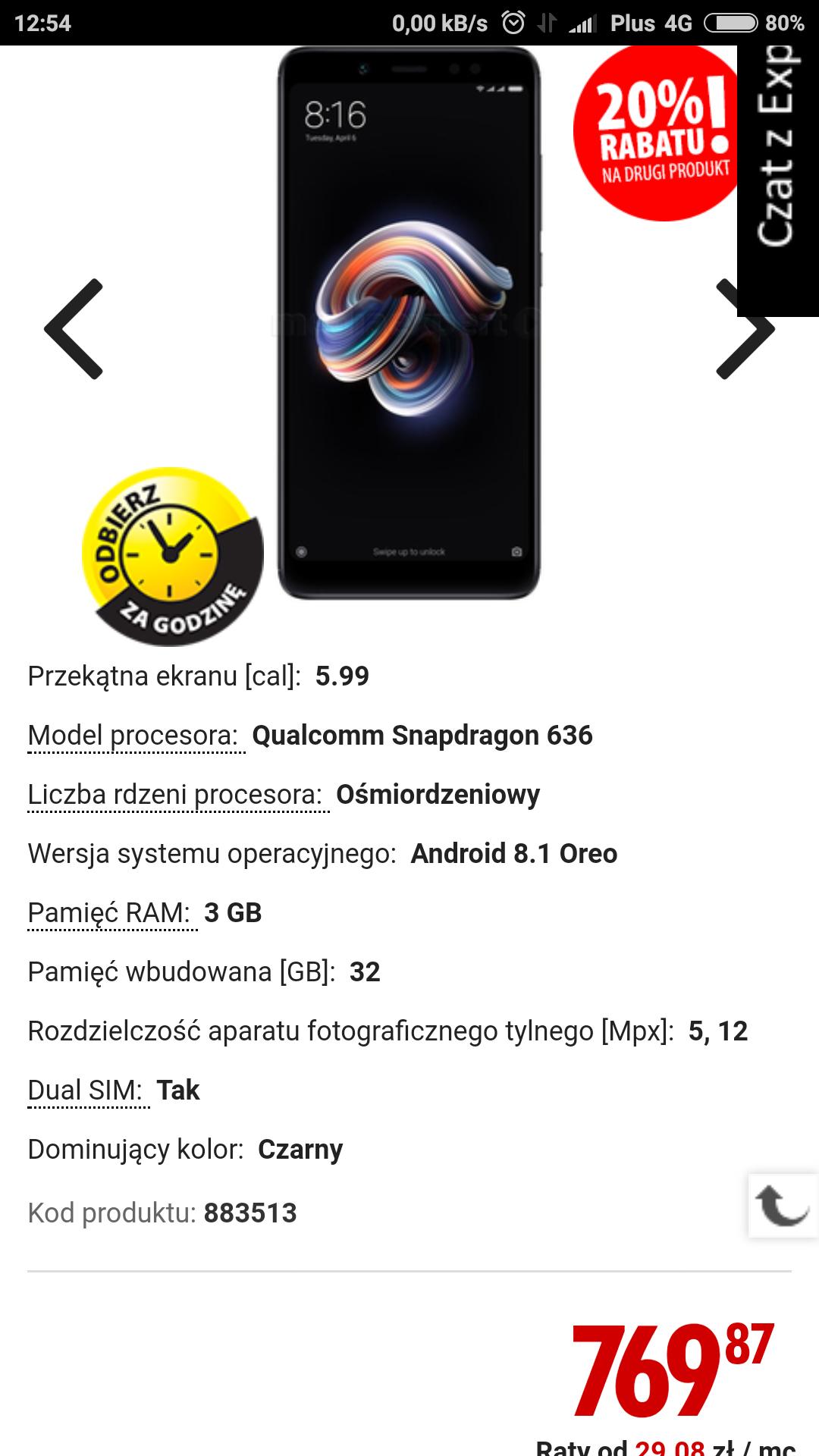 Xiaomi Redmi note 5 3/32 Media Expert