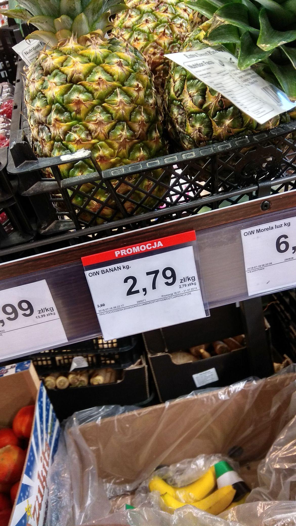 Banany 2,79zł/kg Dino