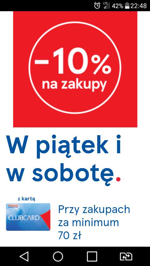 -10% na zakupy z kartą Clubcard