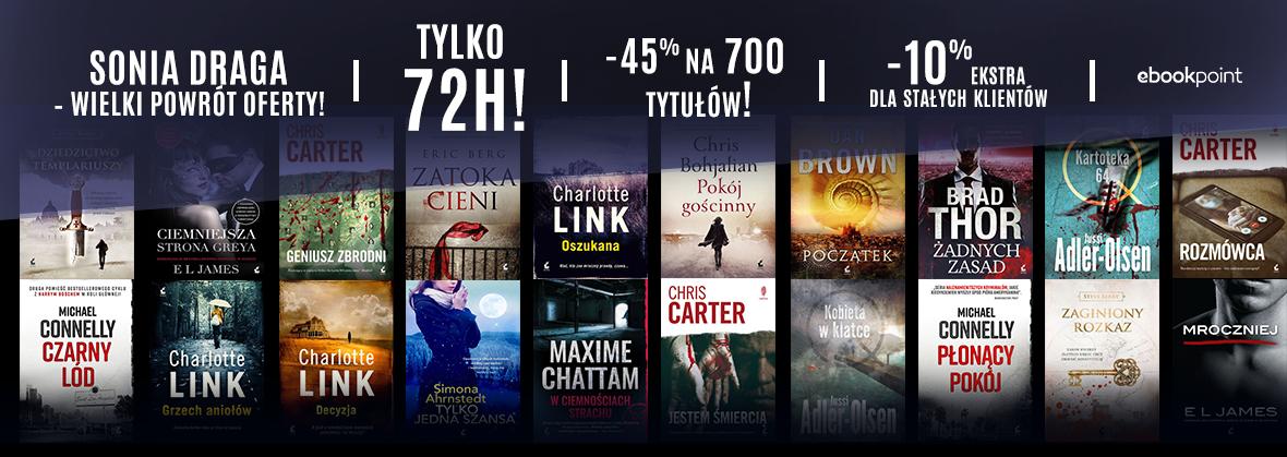 Rabat 45% na 700 tytułów wyd. Sonia Draga (Dan Brown i inne) @ ebookpoint