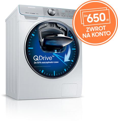 Pralka i pralko-suszarka Samsung QuickDrive - zwrot do 650 zł.