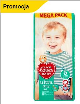 Pieluchy Tesco Loves Baby za 19.99 (18PLN z kartą ClubCard 20-21.07) @ Tesco
