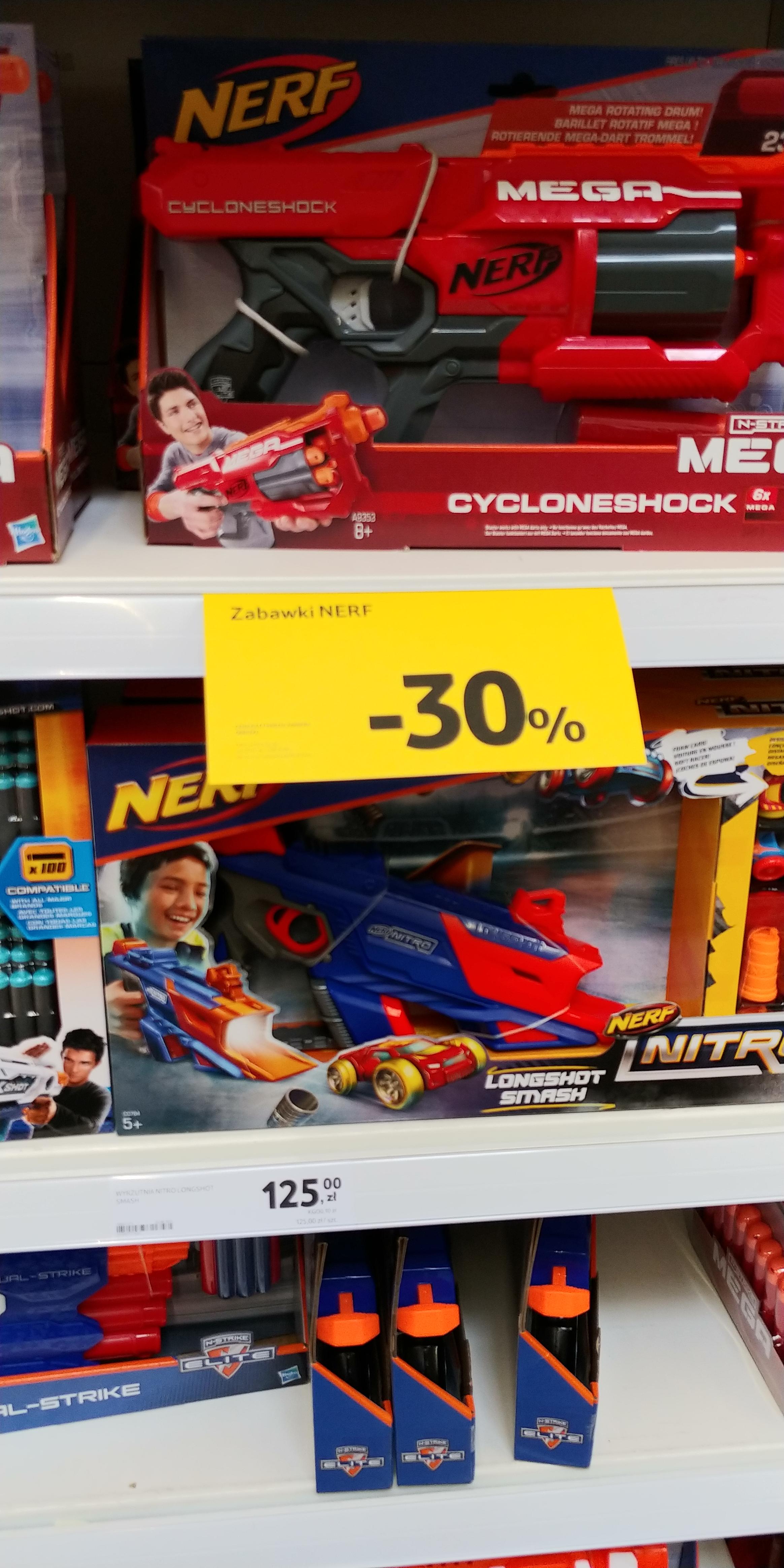 Zabawki NERF w Tesco 30% taniej. Mozliwe40%.