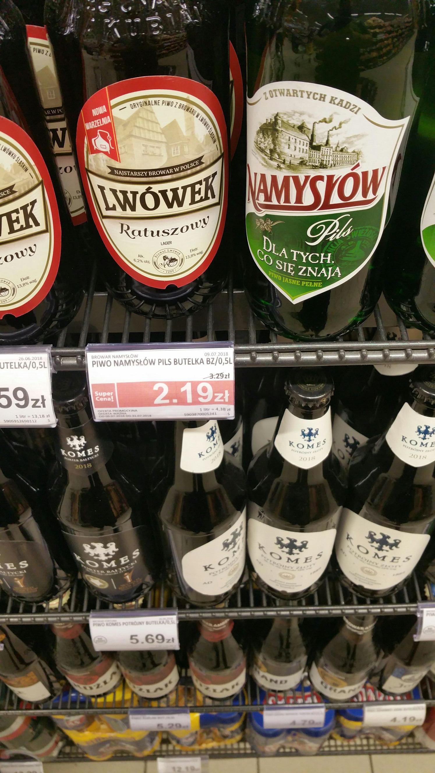 Namysłów 0,5l butelka za 2,19 w Piotr i Paweł