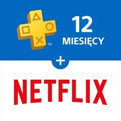 Netflix (3 miesiące) + PlayStation®Plus: 12-miesięczne