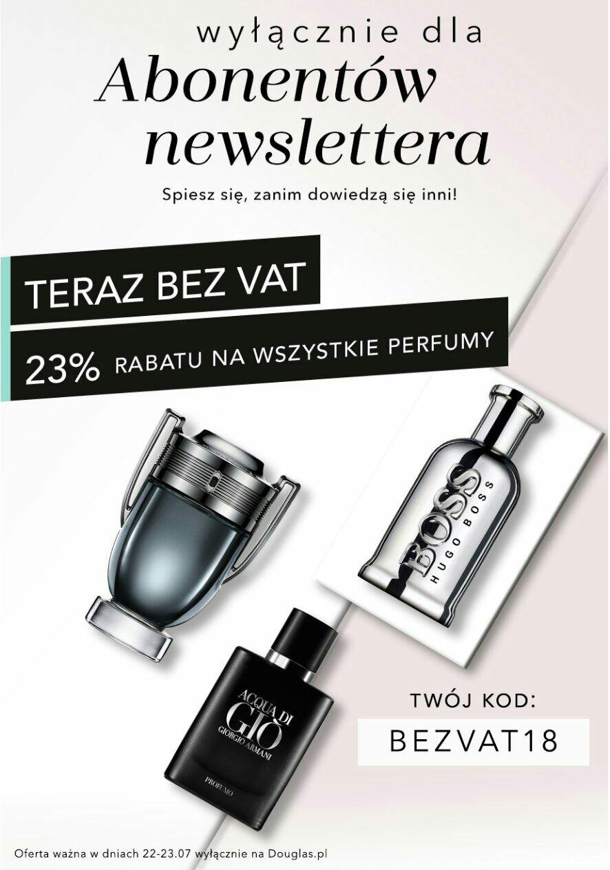 23% Rabatu na perfumy na DOUGLAS.PL