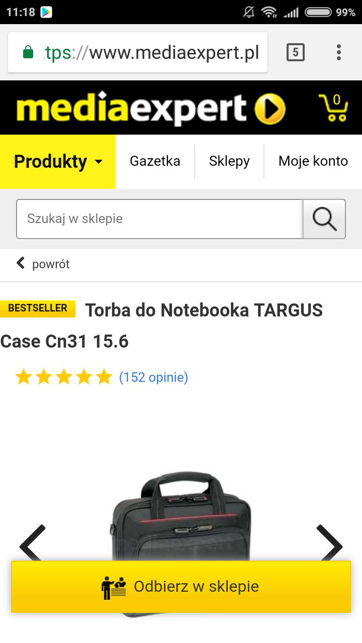 Torba do Notebooka Targus Case Cn31 15.6