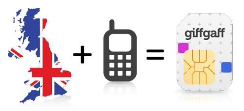 DARMOWA Brytyjska karta SIM z doładowaniem 5GBP  @ Giffgaff