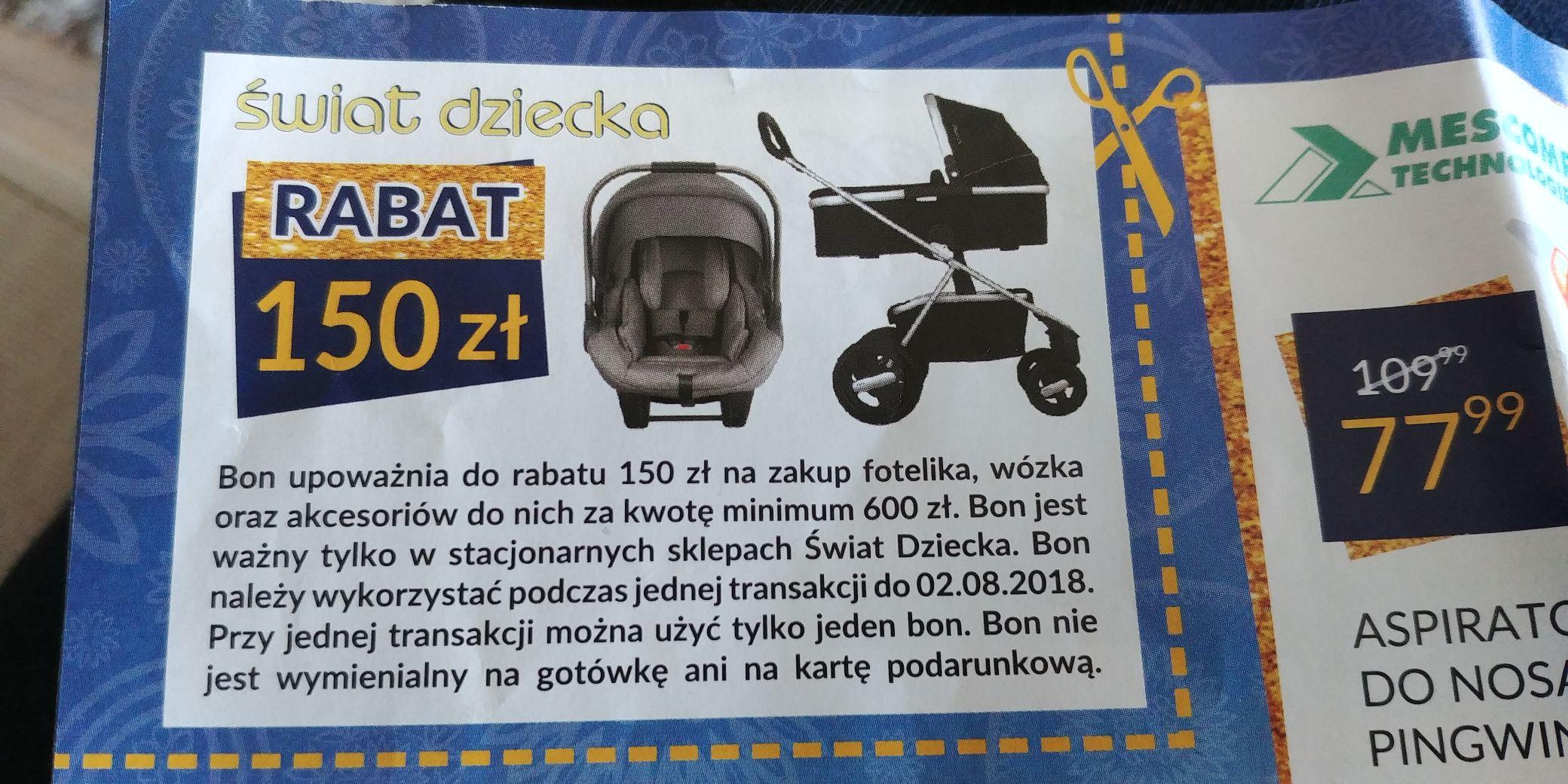 Bon na 150 zł na foteliki i akcesoria @ Świat Dziecka