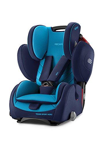 Fotelik Recaro Young Sport Hero Group 1/2/3 Car Seat (9-36kg), Xenon Blue