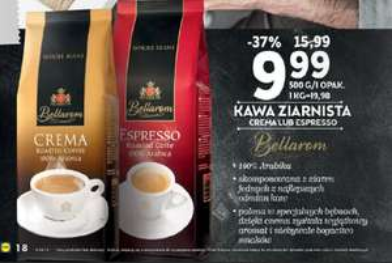 Kawa ziarnista za 9,99zł zamiast 15,99zł (37% taniej) @ Lidl