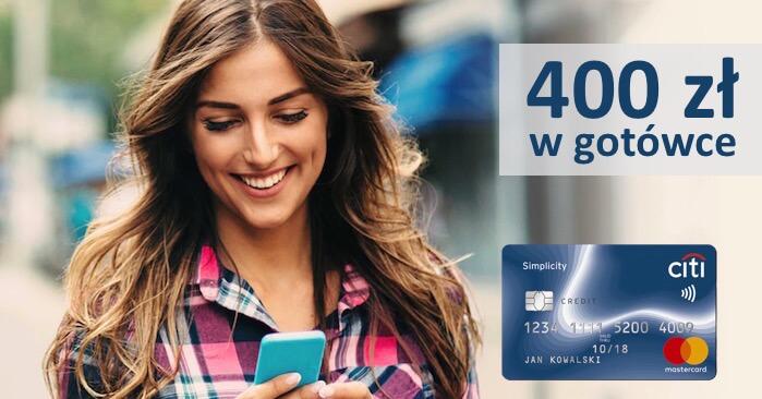 400 zł w gotówce za wyrobienie darmowej karty Simplicty od Citibank (i kolejne 400 zł za konto osobiste!)