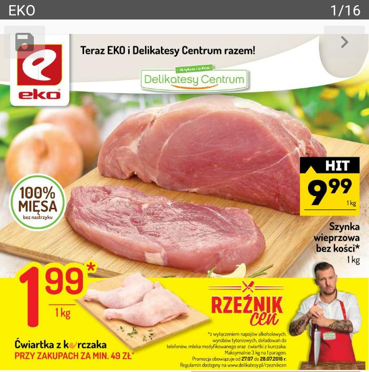 Eko i Delikatesy Cetrum -  ćwiartki z kurczaka