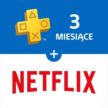 3 miesiące Playstation Plus + 3 miesiące Netflix za 100zł