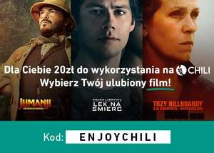 20 zł do wykorzystania w wypożyczalni filmów CHILI