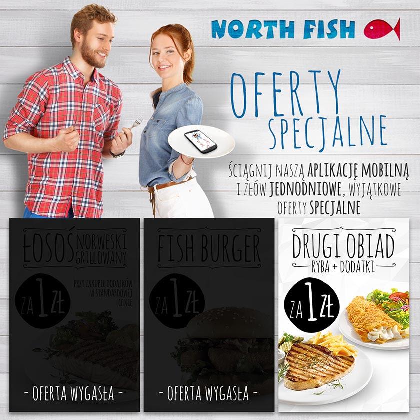 (Tylko 18.08) Drugi zestaw obiadowy za 1zł @ North Fish