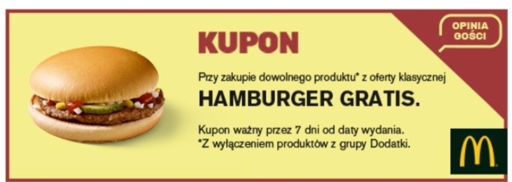 Hamburger/Lody/w niektórych lokalach cheeseburger McDonald's za 1zł