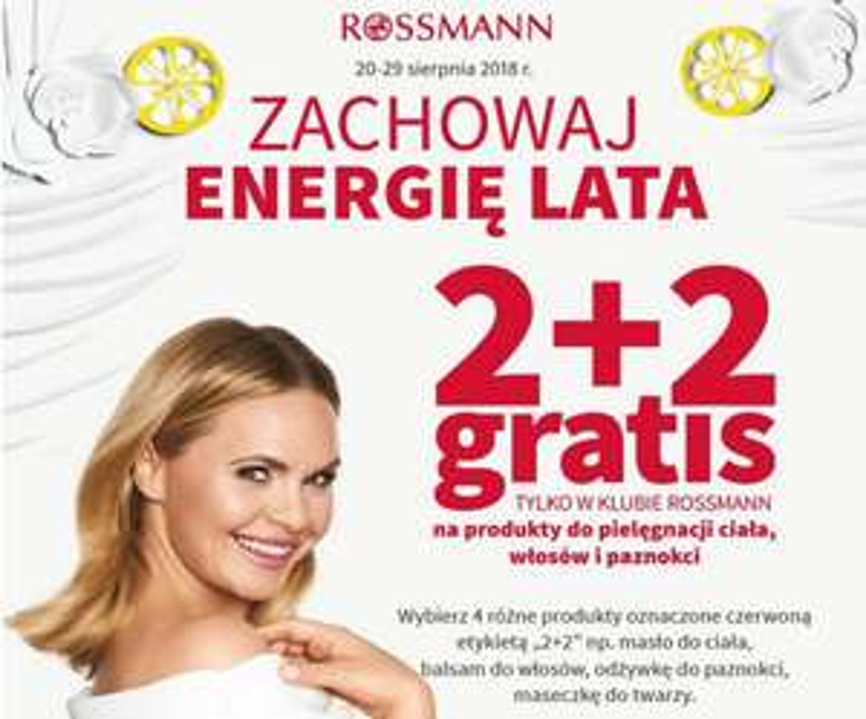 "Rossmann 2+2 gratis ""Zachowaj energię lata"""