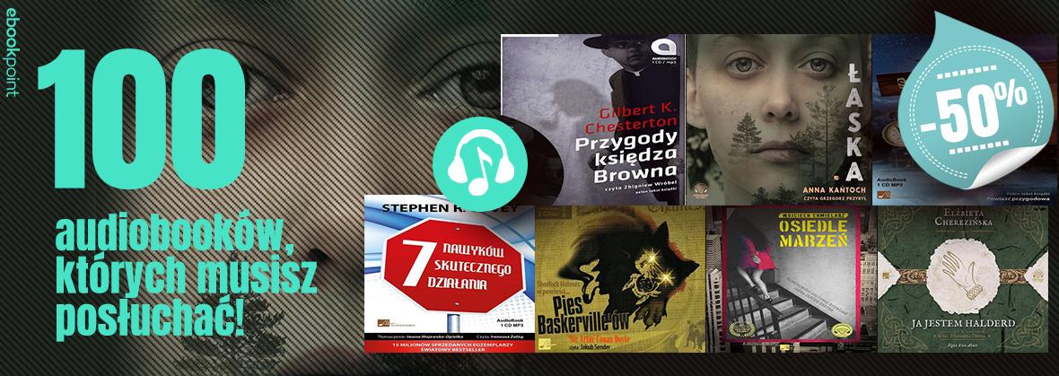 100 audiobooków 50% taniej, kryminały 45% taniej @ ebookpoint