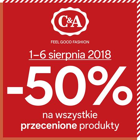 -50% na wszystkie przecenione rzeczy @ C&A