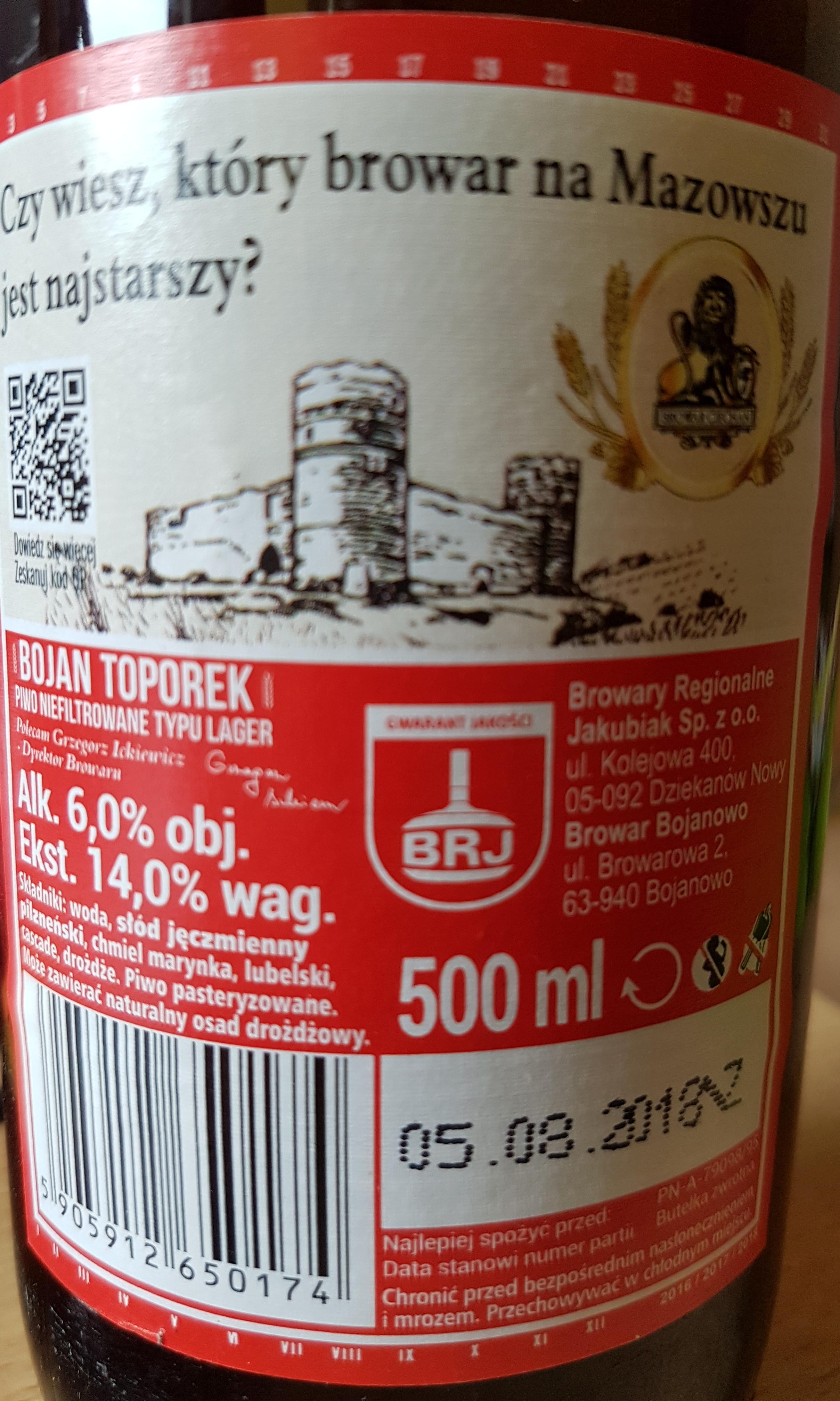 Piwo Bojan Toporek, Strażackie, Komes(y), Cornelius(y), Lwówek Jankes @ Żabka
