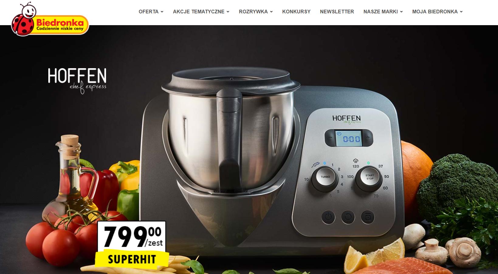 Wielofunkcyjny robot kuchenny Hoffen Chef Express @ Biedronka