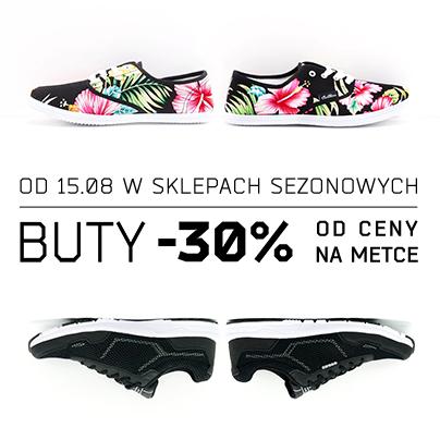 -30% na buty w sklepach sezonowych @ Cropp