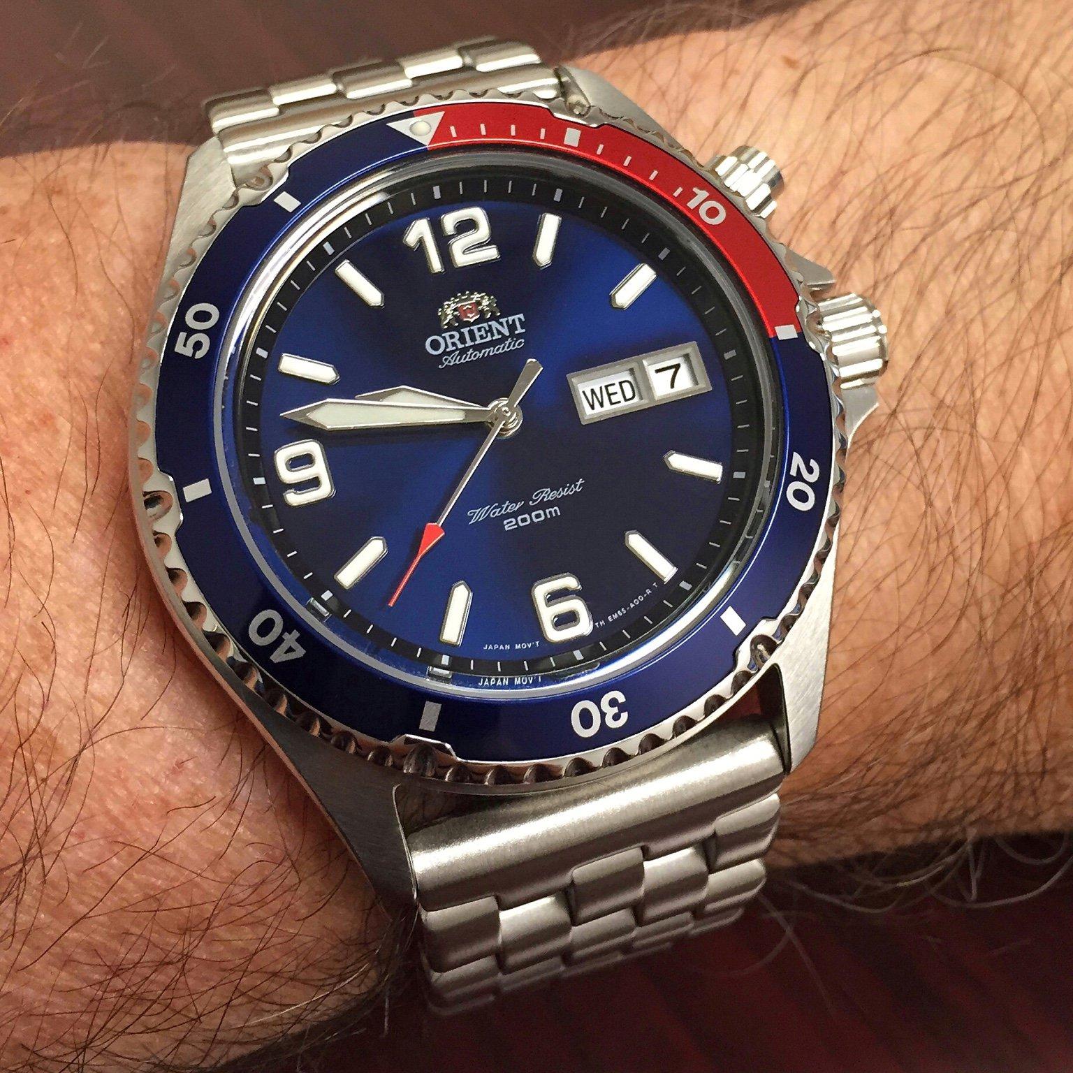 zegarek Orient Mako II Pepsi z Polski
