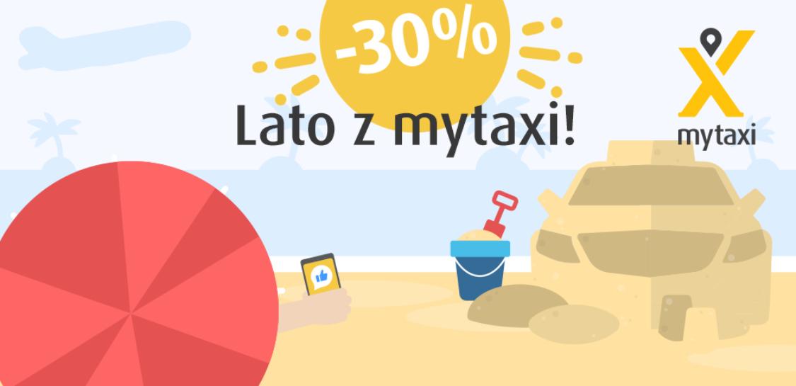 mytaxi -30% na wybrane trasy do końca sierpnia