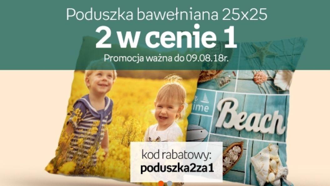 Dwie fotopoduszki (25x25 cm) w cenie 1 na EmpikFoto.pl