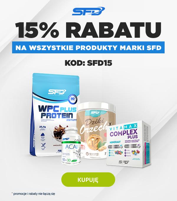 15% Rabatu na produkty w sklpie SFD