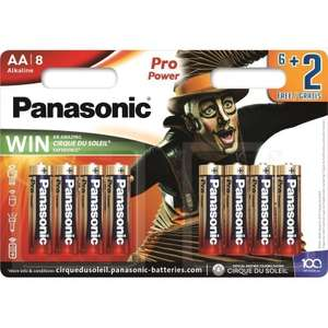 Baterie Panasonic Pro Power 8x AA @ Auchan ważne do 2028 r.