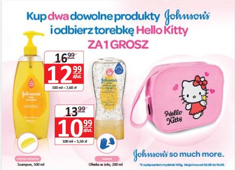 Torebka Hello Kitty przy zakupie dwóch produktów Johnson's @ Natura