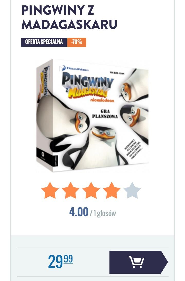 Gra planszowa Pingwiny z Madagaskaru