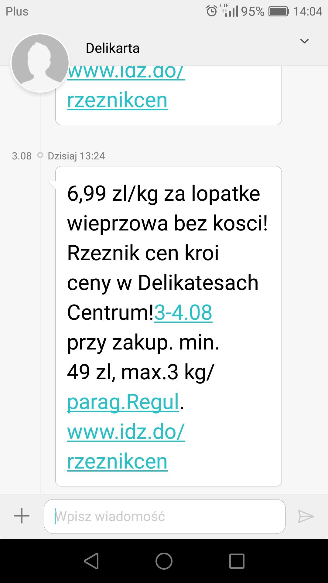 Łopatka wieprzowa 6.99kg w Delikatesach Centrum