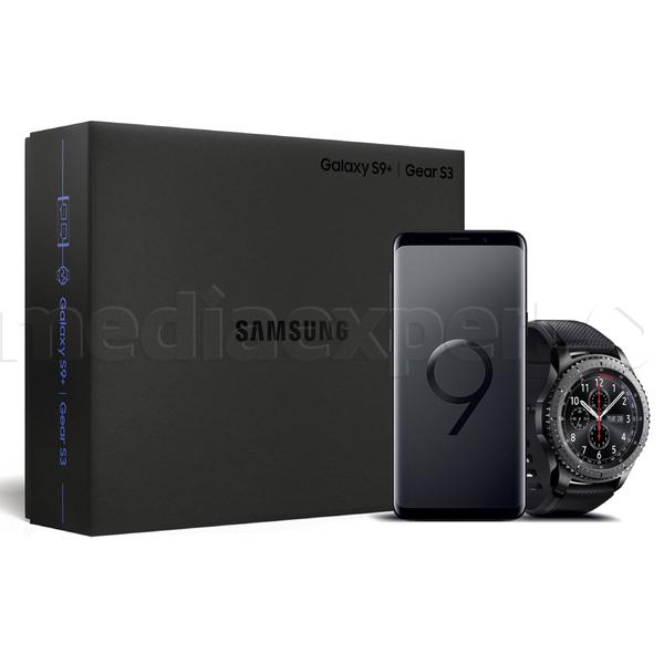 Zestaw Smartfon SAMSUNG Galaxy S9+ SM-G965F Midnight Black + Smartwatch SAMSUNG SM-R760N Gear S3 + uchwyt do auta za 1 PLN (4000 PLN - zwrot 400 - odkup 400 - 400 w bonach)