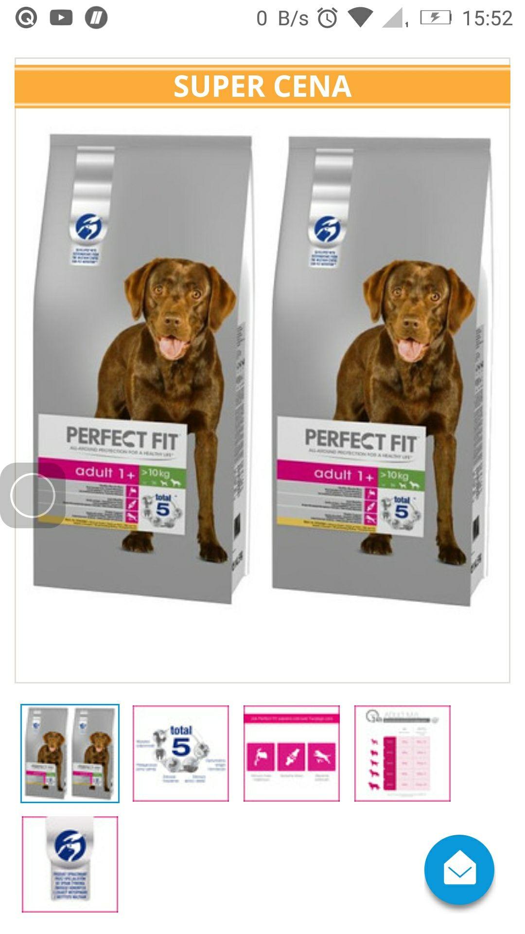 Karma dla psów ras średnich i dużych Perfect fit Adult, kurczak 2x14.5 kg