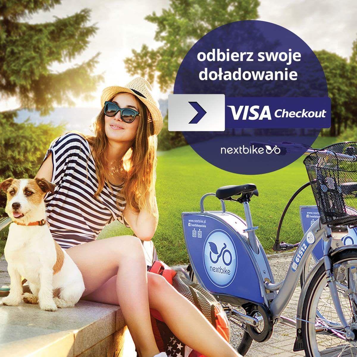 Dodatkowe 10 zł do roweru miejskiego NextBike po doładowaniu z Visa Checkout