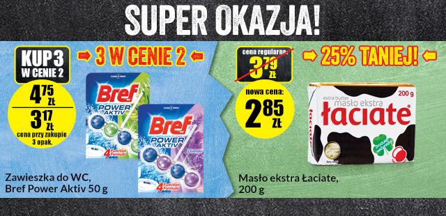 SUPER OKAZJA! 3 produkty w cenie 2 i 25% rabatu @ Biedronka