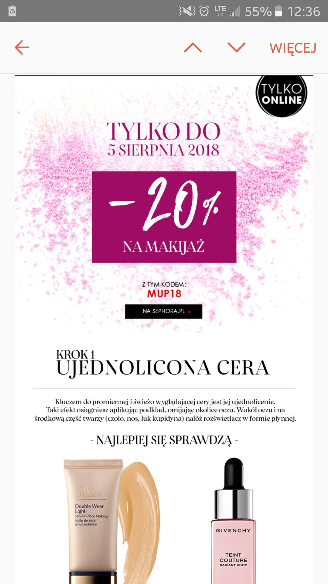-20% na makijaż w Sephora