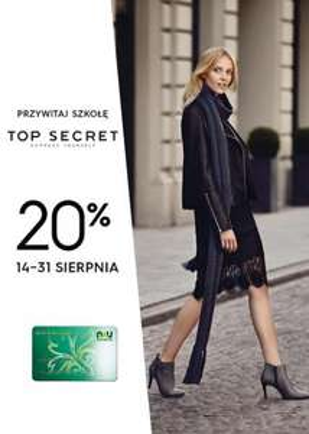 Rabat -20% dla nauczycieli @ Top Secret