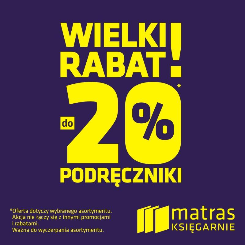 Do 20% zniżki na podręczniki szkolne @ Matras