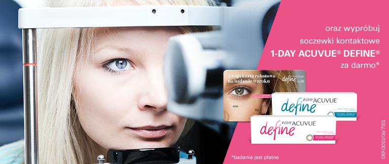 Karta o wartości 50zł do wykorzystania na badanie wzroku + 10 soczewek gratis @ Acuvue