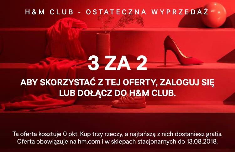 @h&m club 3 za 2 na Wyprzedaż