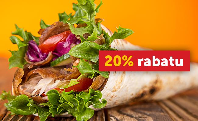 Każdy wtorek burgery i kebaby 20% taniej!