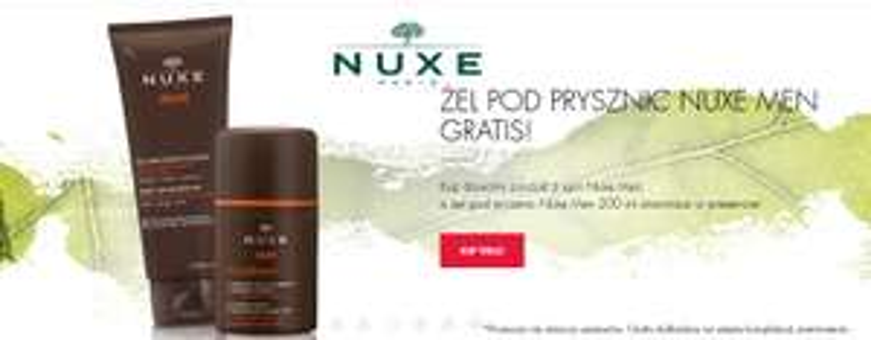 Żel pod prysznic gratis przy zakupie dowolnego produktu marki Nuxe Men @ Super-Pharm