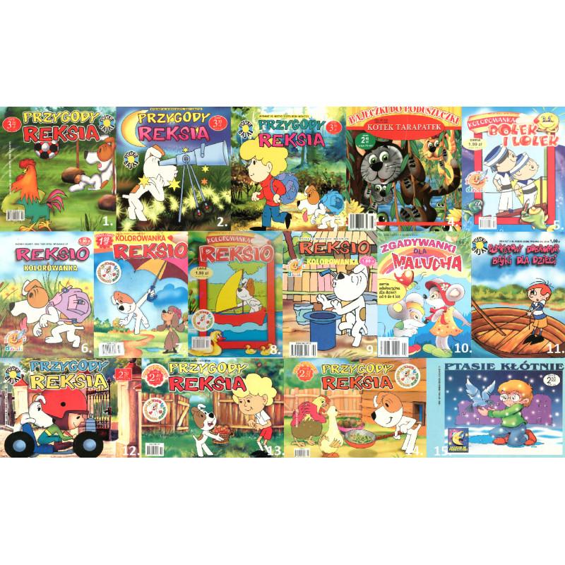 Zestaw 15 książeczek dla dzieci (Bolek i Lolek, Reksio i inne) [OUTLET]