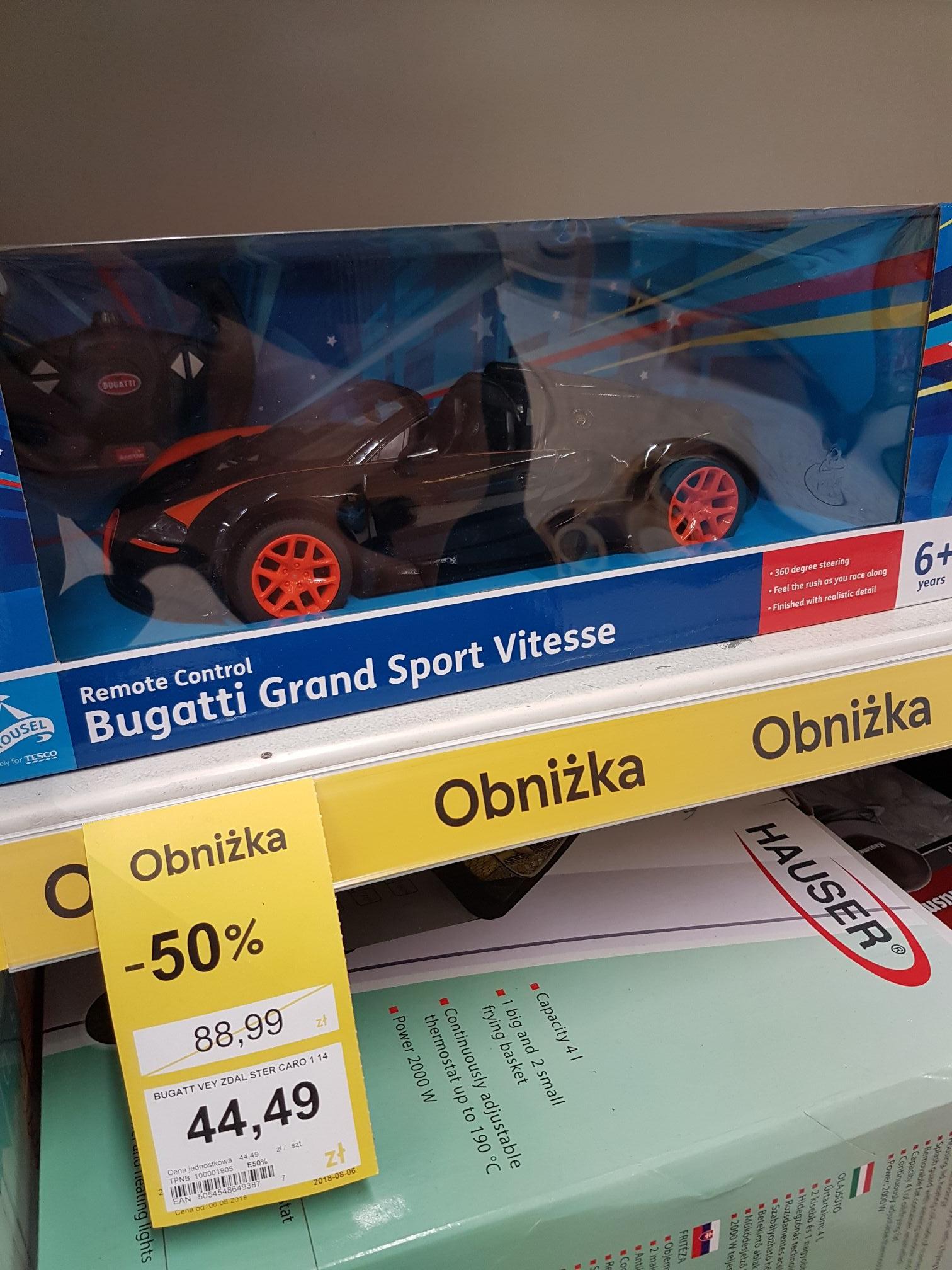 Bugatti Grand Sport Vitesse zdalnie sterowany skala 1:14 @Tesco Szczecin, Gdańsk